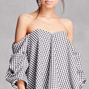 nasty gal off the Shoulder Bustier Style Blouse